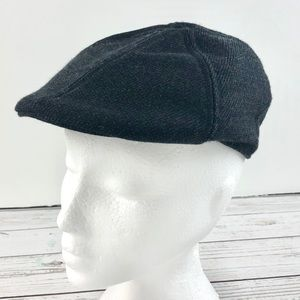 Souris Mini dark grey newsboy peak cap